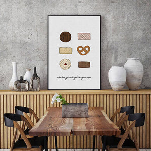 Cookies and Coffee Oil Painting Art Canvas Prints-010 (2)