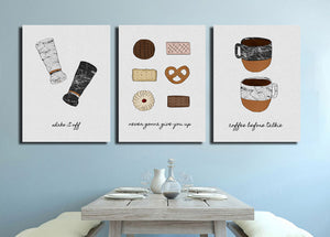 Cookies and Coffee Oil Painting Art Canvas Prints-010 (3)