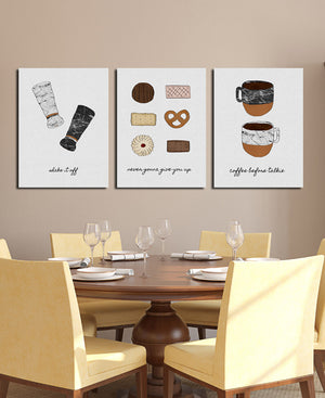 Cookies and Coffee Oil Painting Art Canvas Prints-010 (4)
