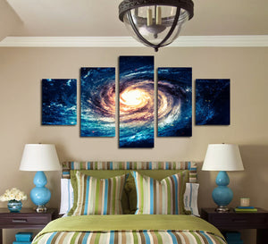 Modern 5 Panel Canvas Painting Universe Galaxy Picture Prints-065 (2)