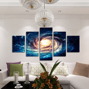 Modern 5 Panel Canvas Painting Universe Galaxy Picture Prints-065 (5)