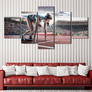 Prepare Running Woman 5 Panel Runway Canvas Art Prints-102 (2)