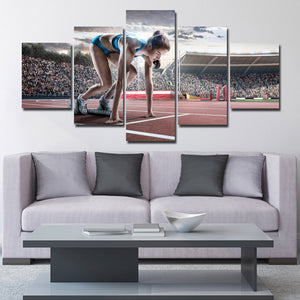 Prepare Running Woman 5 Panel Runway Canvas Art Prints-102 (3)