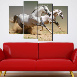 Running Horse Picture 4 Panel Animal Canvas Print Poster Wall Decor Art-135 (2)