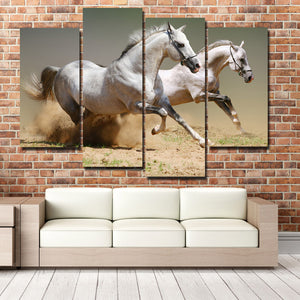 Running Horse Picture 4 Panel Animal Canvas Print Poster Wall Decor Art-135 (3)