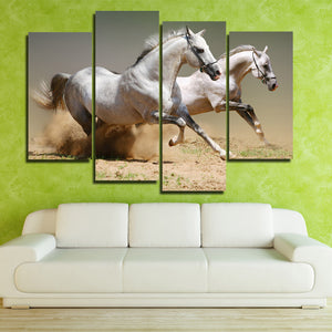 Running Horse Picture 4 Panel Animal Canvas Print Poster Wall Decor Art-135 (4)
