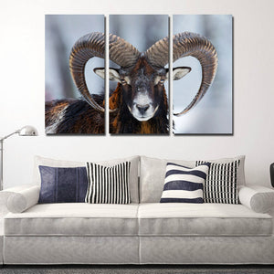 Wild Sheep Wall Art Print Picture 3 Panel Animal Canvas Painting Decor-117 (1)