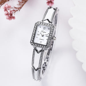 Luxury Rhinestone Rectangle Watches
