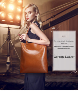 Genuine Leather Tote Handbag