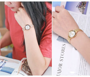 Simple Multi-cut Surface Mirror Bracelet Watch