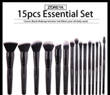 """Zoreya"" Black Makeup Brushes Set"