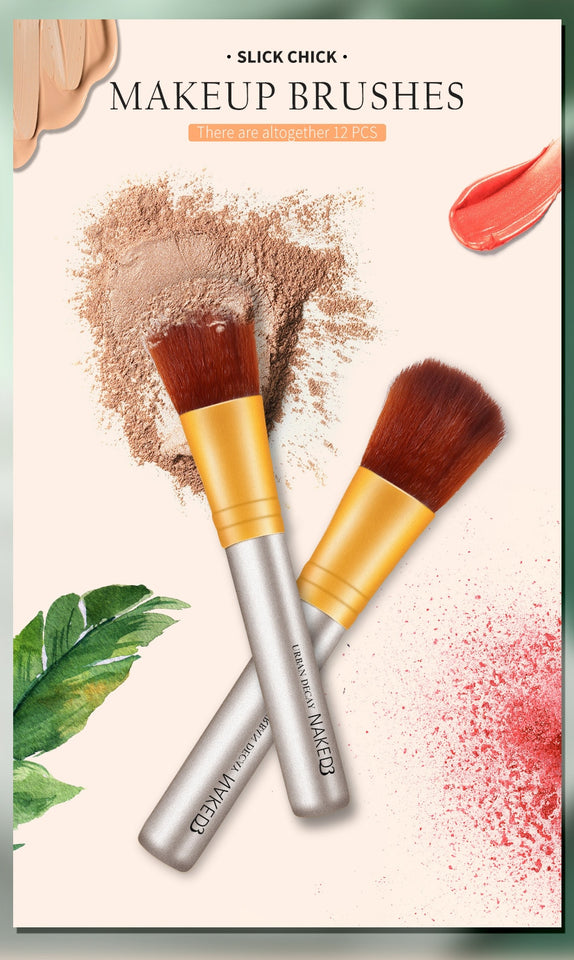 NAKED3 Makeup Brushes Set