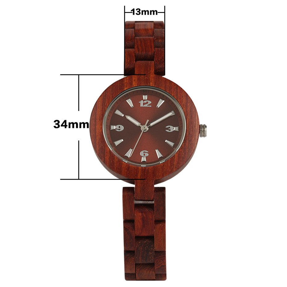 Red Brown Dial Lady Wrist Watch