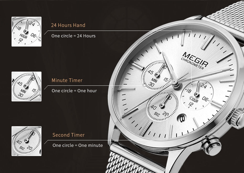 Chronograph Luxury Bracelet Watches