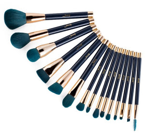 Blue/Purple 15pcs Makeup Brushes Set