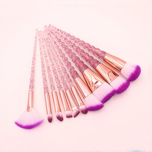 Crystal Unicorn Makeup Brushes Set