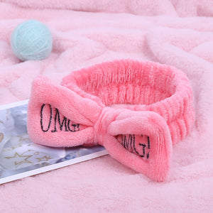 Soft Coral Fleece Bow Headbands