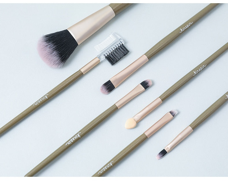 Professional Makeup Brushes With Leather Bag Holder