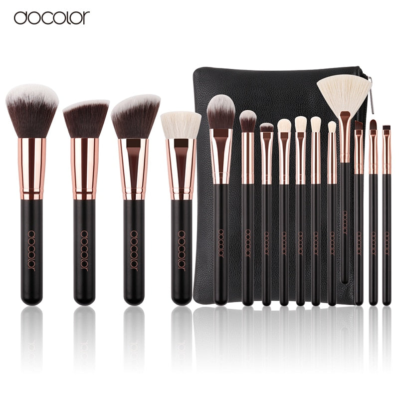 15PCS Makeup Brushes Set With Bag