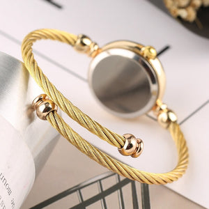 6 Pcs/Set Punk Gold Chain Bracelet Watch