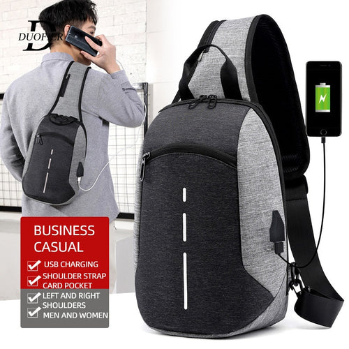 USB Charging Chest Bag