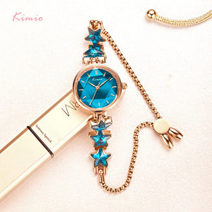 Trendy Blue Star Bracelet Watches