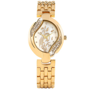 Silver Golden Diamond Bracelet Watches