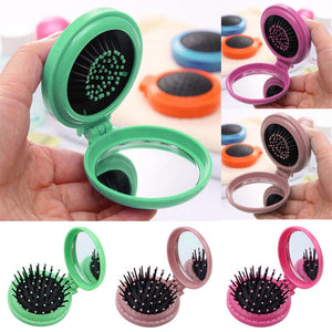 Portable Round Pocket Folding Comb