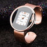 Trendy Silver Bangle Wristwatches