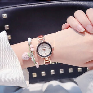 Small Elegant White Ladies Wristwatches