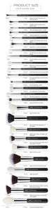 Black/Silver Makeup Brushes Set