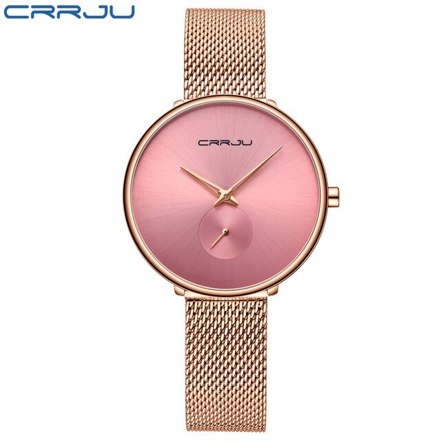 Ultra Thin Stainless Steel Quartz Watch