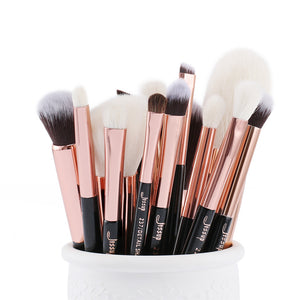 Black/Rose Gold Colored Makeup Brushes Set
