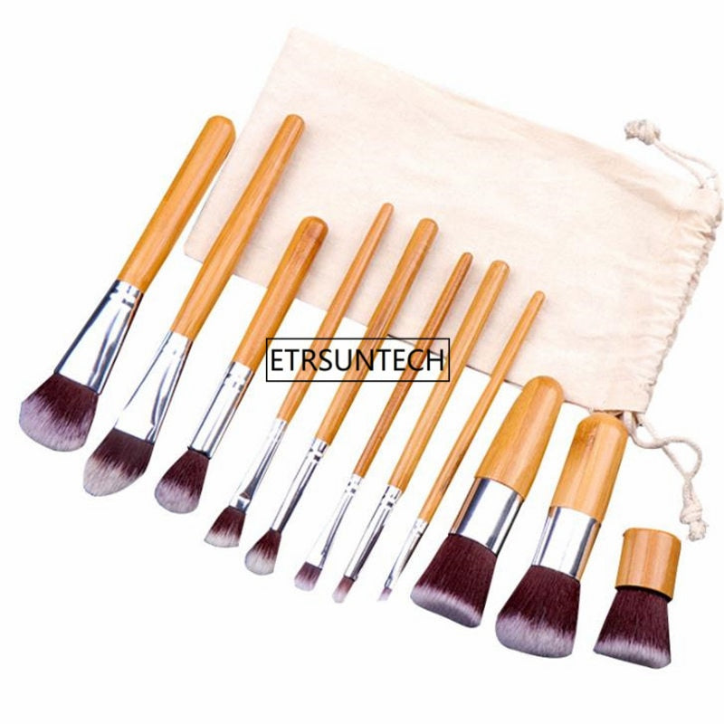 Natural Bamboo Makeup Brushes Set