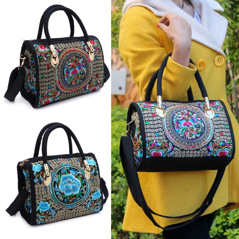 Floral Embroidered Ethnic Handbag