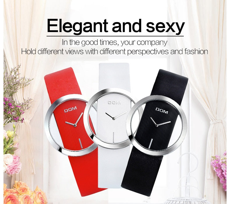 Creative Leather Women's Waterproof Watches