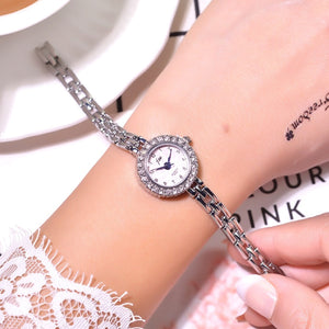 Luxury Stainless Steel Crystal Watches