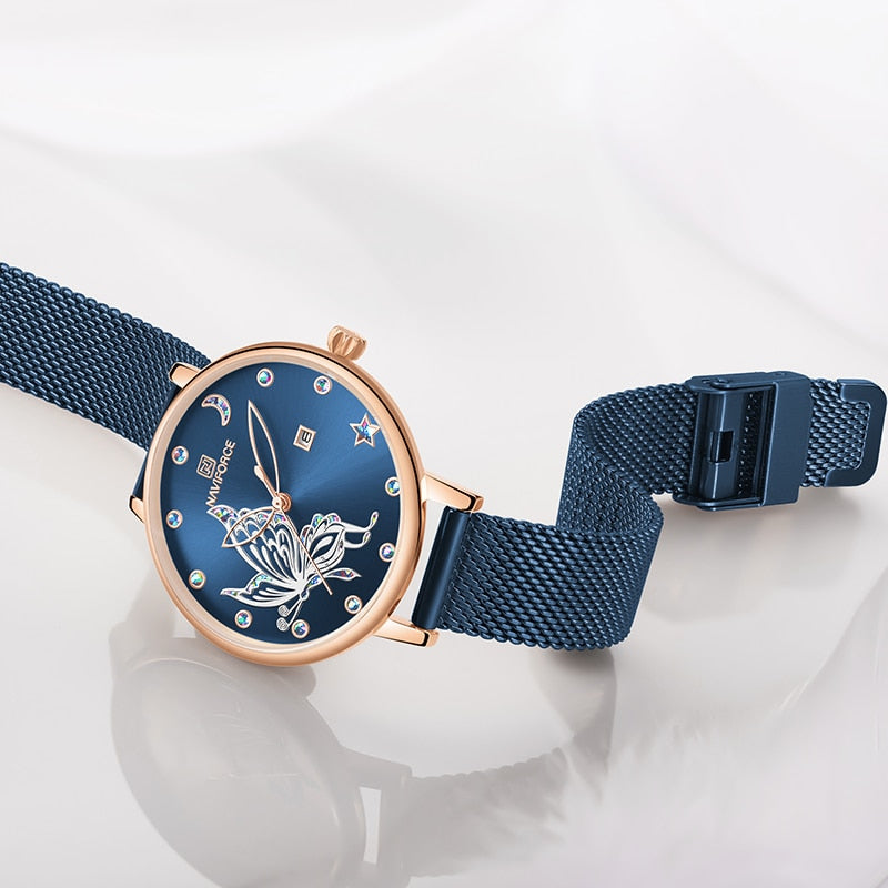 Butterfly Waterproof Mesh Watches