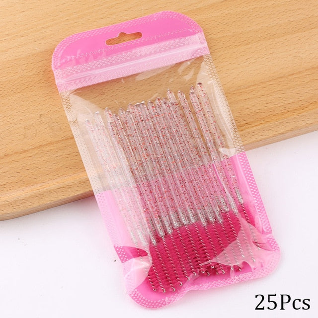 Disposable Crystal Makeup Brushes Set