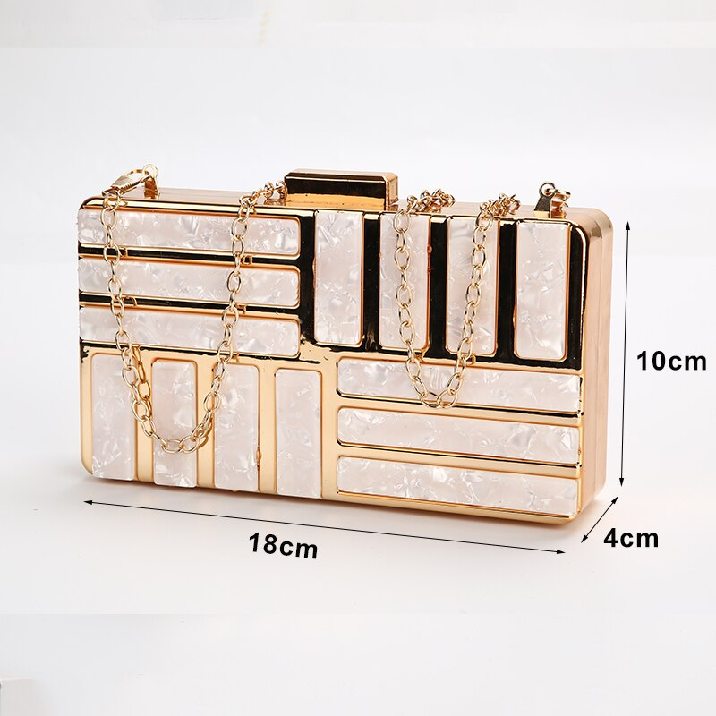 Stylish Acrylic Party Clutch Bags