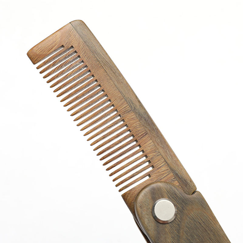 Folding Wooding Hair Comb