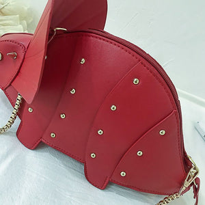 Dinosaur Shape Leather Crossbody Bag