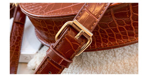 Crocodile Semicircle Saddle Bag