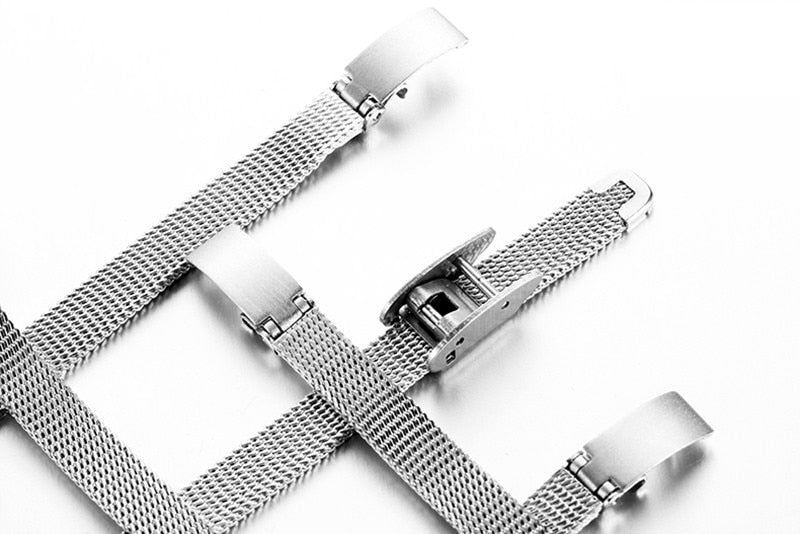 Stainless Steel Fine Mesh Quartz Watches