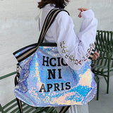 Casual Women Bling Sequins Tote Bag