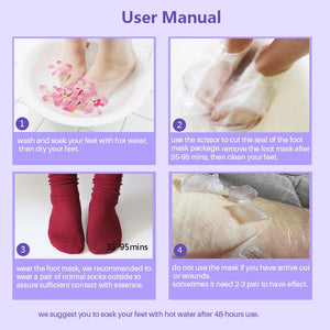 6pcs 3pair Exfoliating Foot Mask