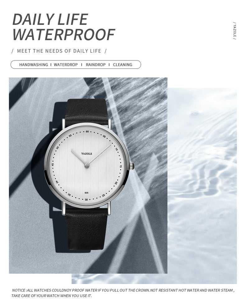 Simple Waterproof Quartz Sports Watch