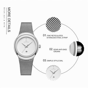 Luxury Stainless Steel Mesh Watches