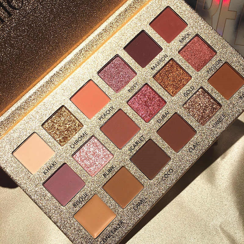 18 Color Glitter Matte Eyeshadow Palette