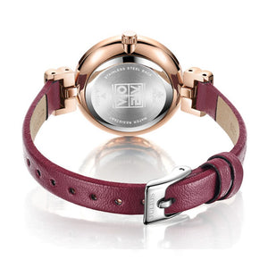 Rose Gold Leather Bracelet Watches